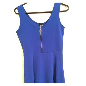 Dark blue zipper dress PINK